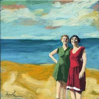 summer_scene_oil_painting___friends_on_the_beach_4608d6beae15036712b8b29cd38566ed
