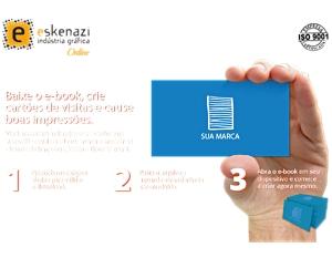 Estudo de caso Eskenazi: landing page da gráfica online para cartões de visita