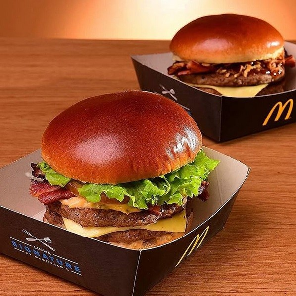 Redes alimentícias no Instagram: McDonald's