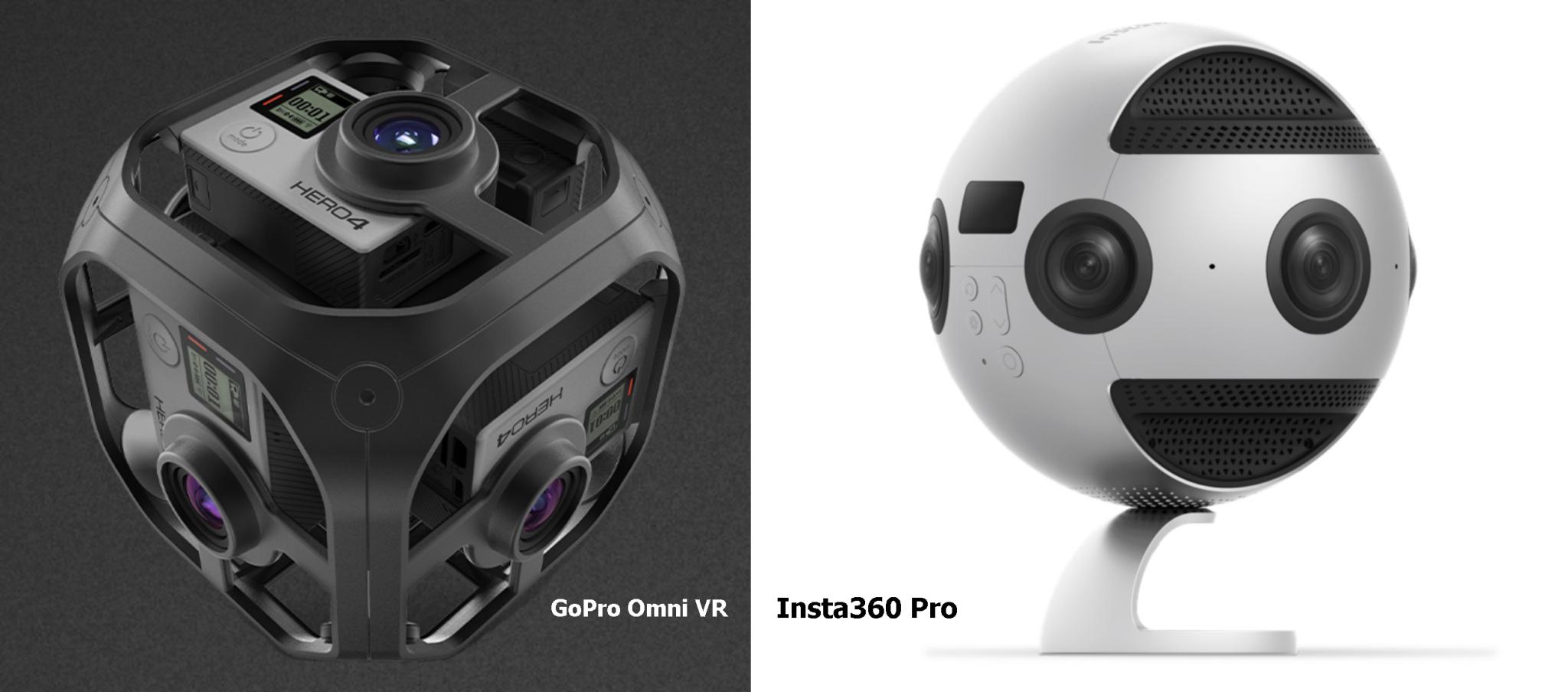 GoPro Omni VR e Insta360 Pro