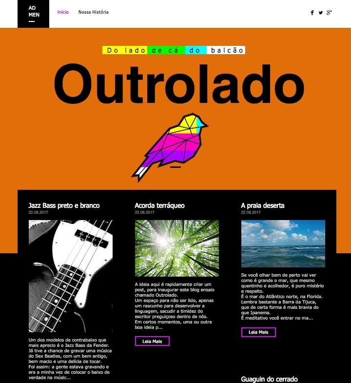 Adaptando o template ao blog Outrolado