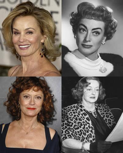 Bette Davis e Joan Crawford; Susan Sarando e Jessica Lange