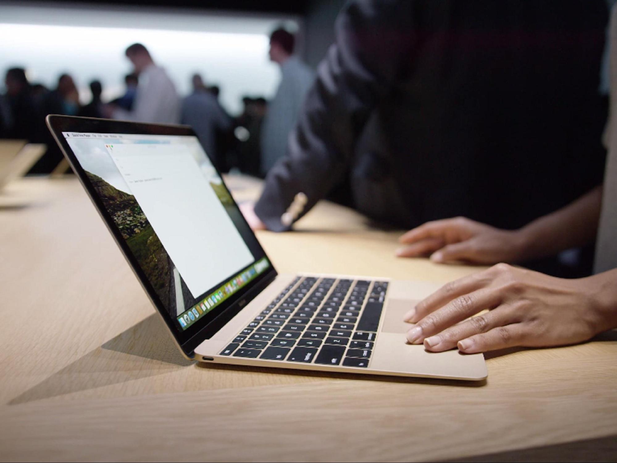 Macbook, o notebook de 12 polegadas da Apple com uma nova tecnologia no teclado.