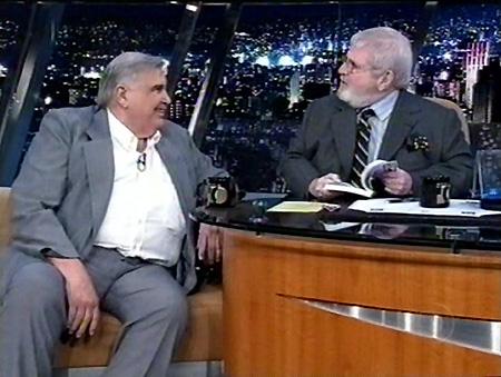 Orion de Faria, junto com o apresentador Jô Soares.